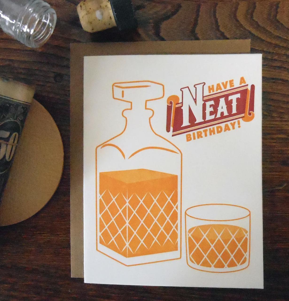 """Neat Birthday,"" Blank Greeting Card"