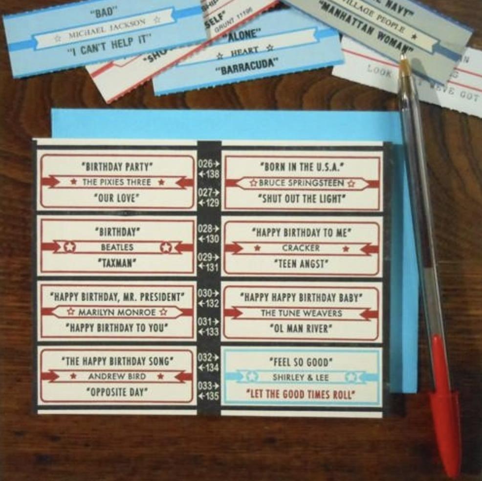 Jukebox Birthday, Blank Greeting Card