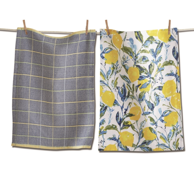 Lemon Grove Dish Towel Set/2