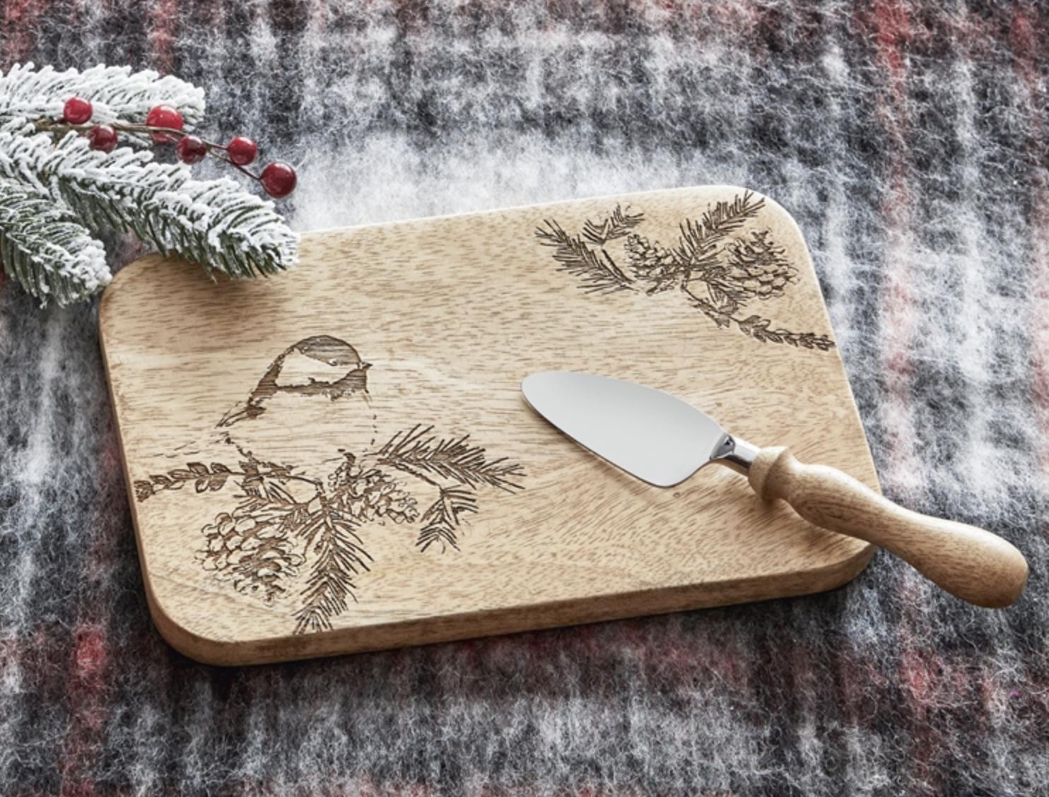 Winter Bird Board & Spreader Set