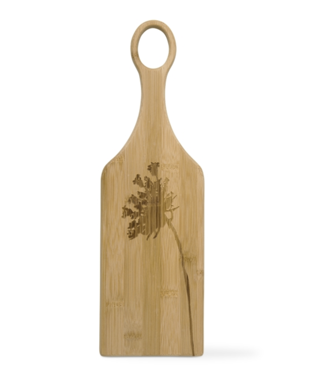 """Wild Flower Bamboo Board with Handle, 16""""x5"""""""