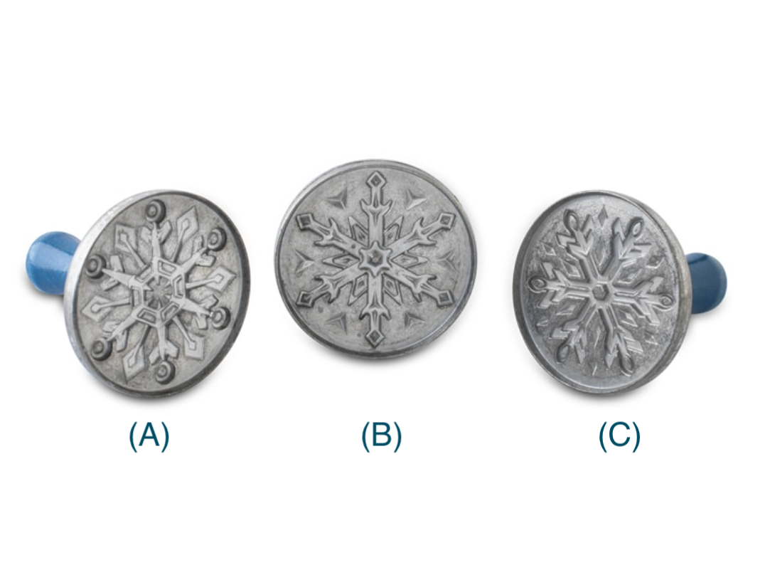 Snowflake Cast Cookie Stamps--SINGLES; CHOOSE DESIGN