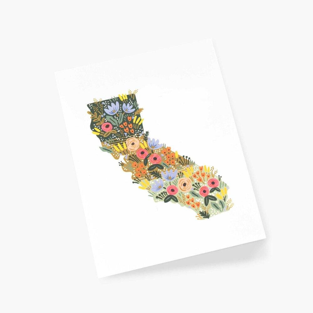 California  Wildflowers, Rifle Paper Co. Blank Greeting Card