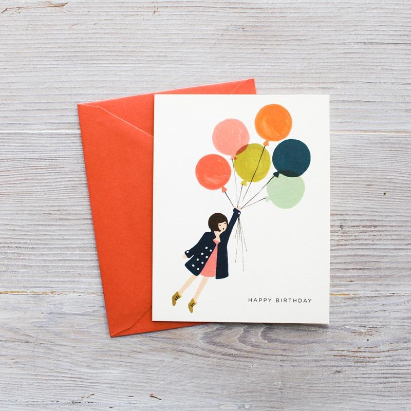 Fly Away Happy Birthday, Rifle Paper Co. Blank Greeting Card