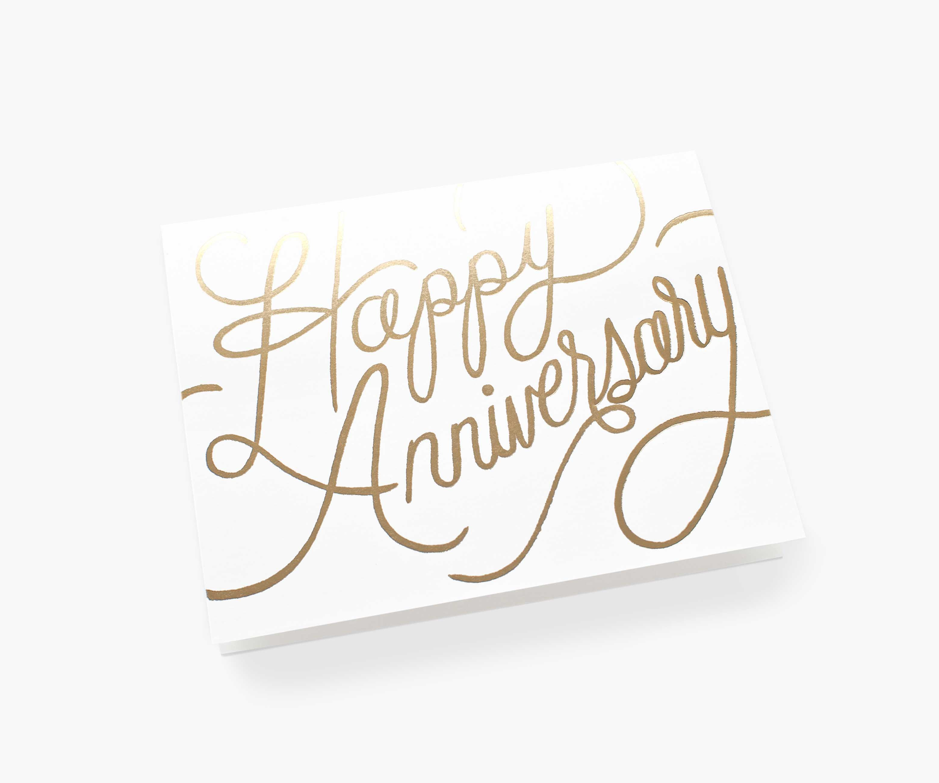 """""""Happy Anniversary"""" in Gold Foil, Rifle Paper Co. Blank Greeting Card"""
