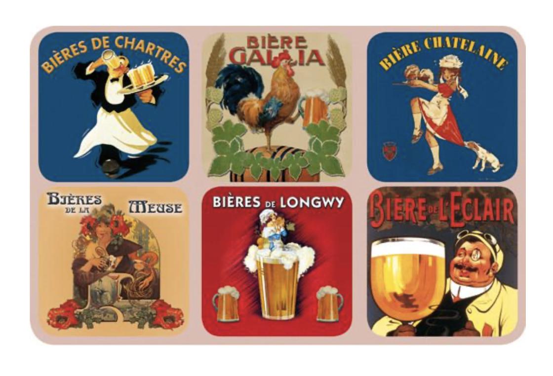 Bieres Coasters, set/6