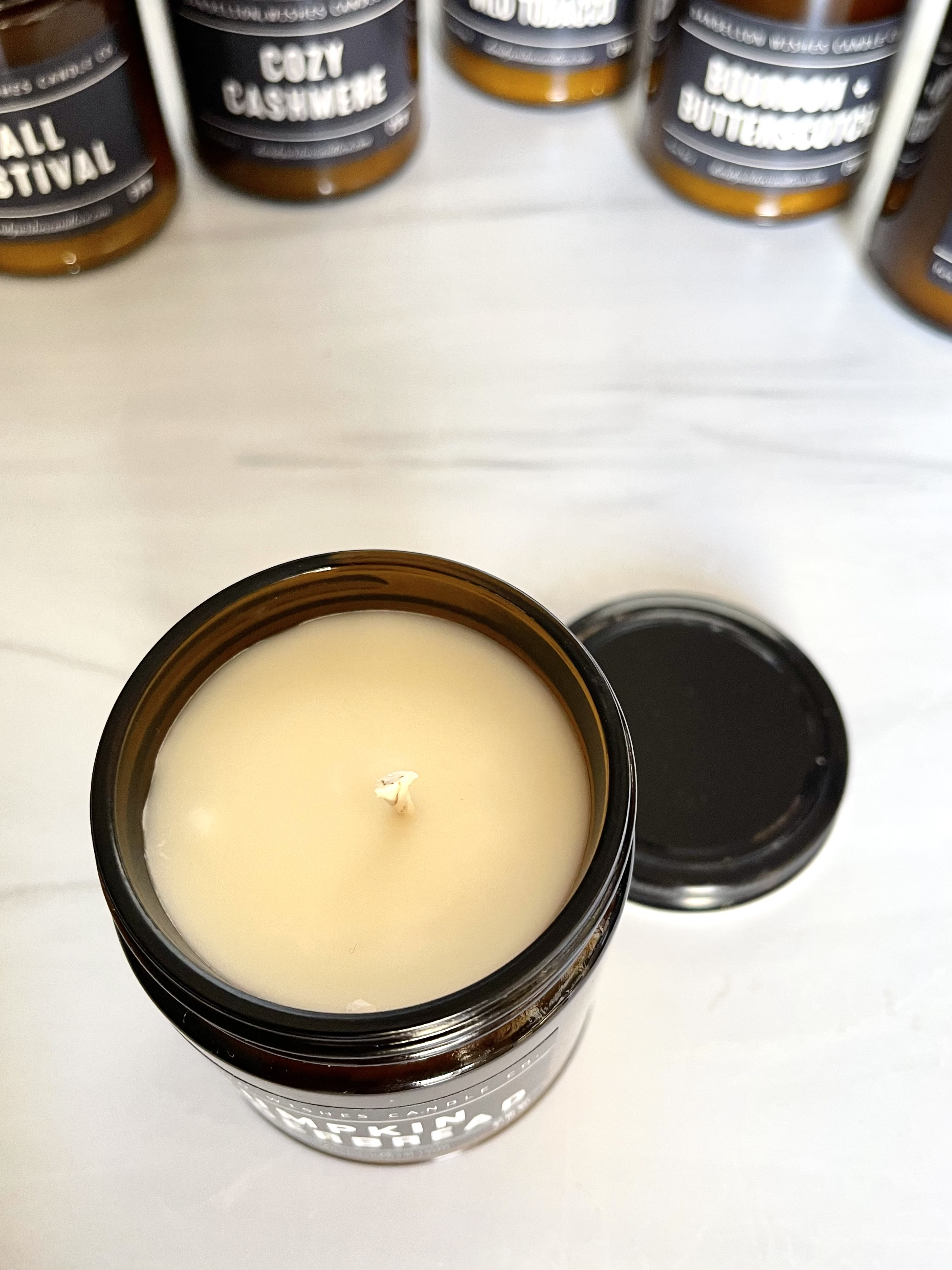 Sunset in Napa, Amber Jar Candle with Lid, 9oz