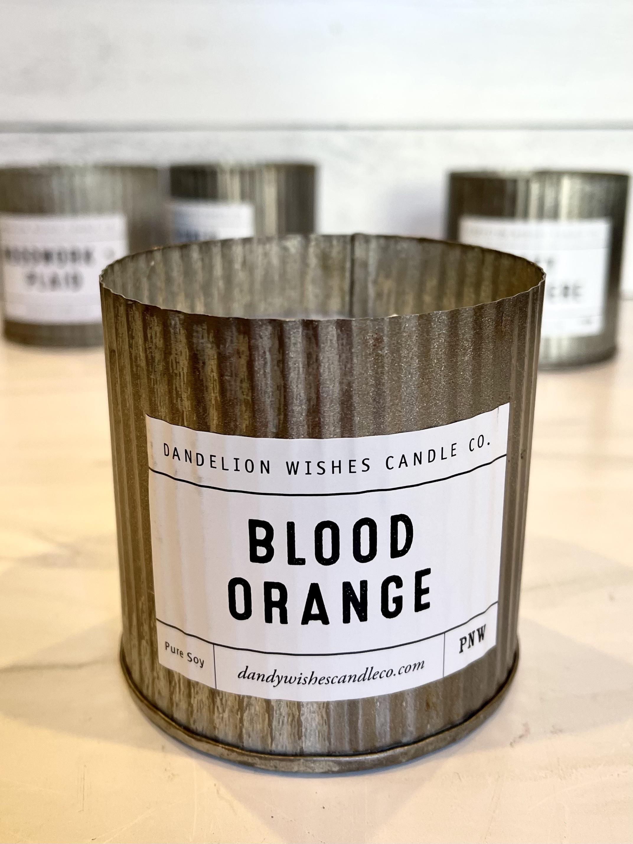 Blood Orange, Rustic Galvanized Tin Candle, 12oz