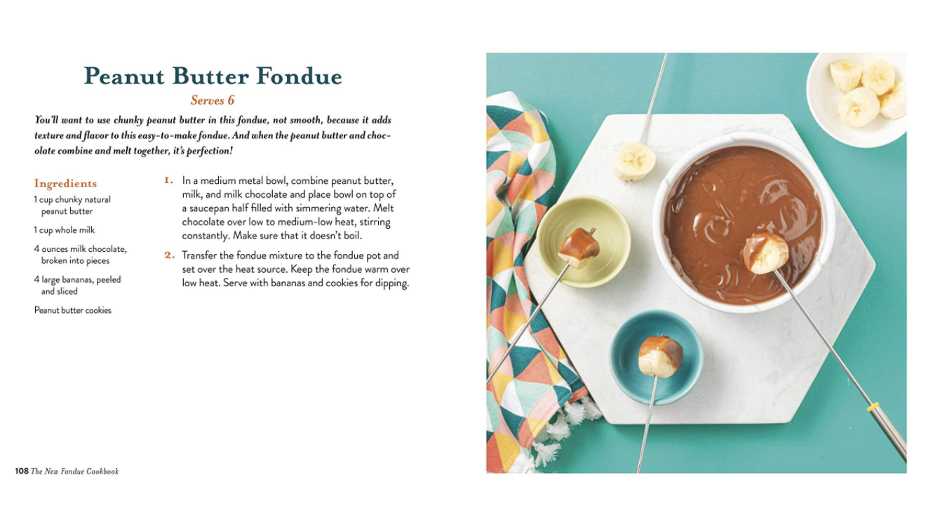 OCTOBER: The New Fondue Cookbook: From Savory Ale-Spiked Cheddar to Sweet Chocolate Peanut Butter Fondue
