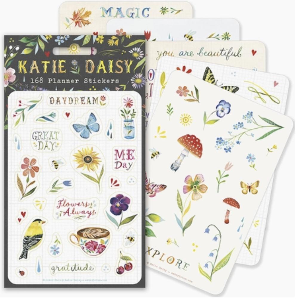 "Katie Daisy ""DayDreams,"" 168 Planner Stickers"