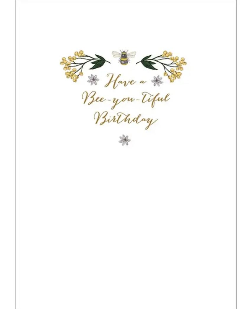 """Bee You"" Birthday Greeting Card"