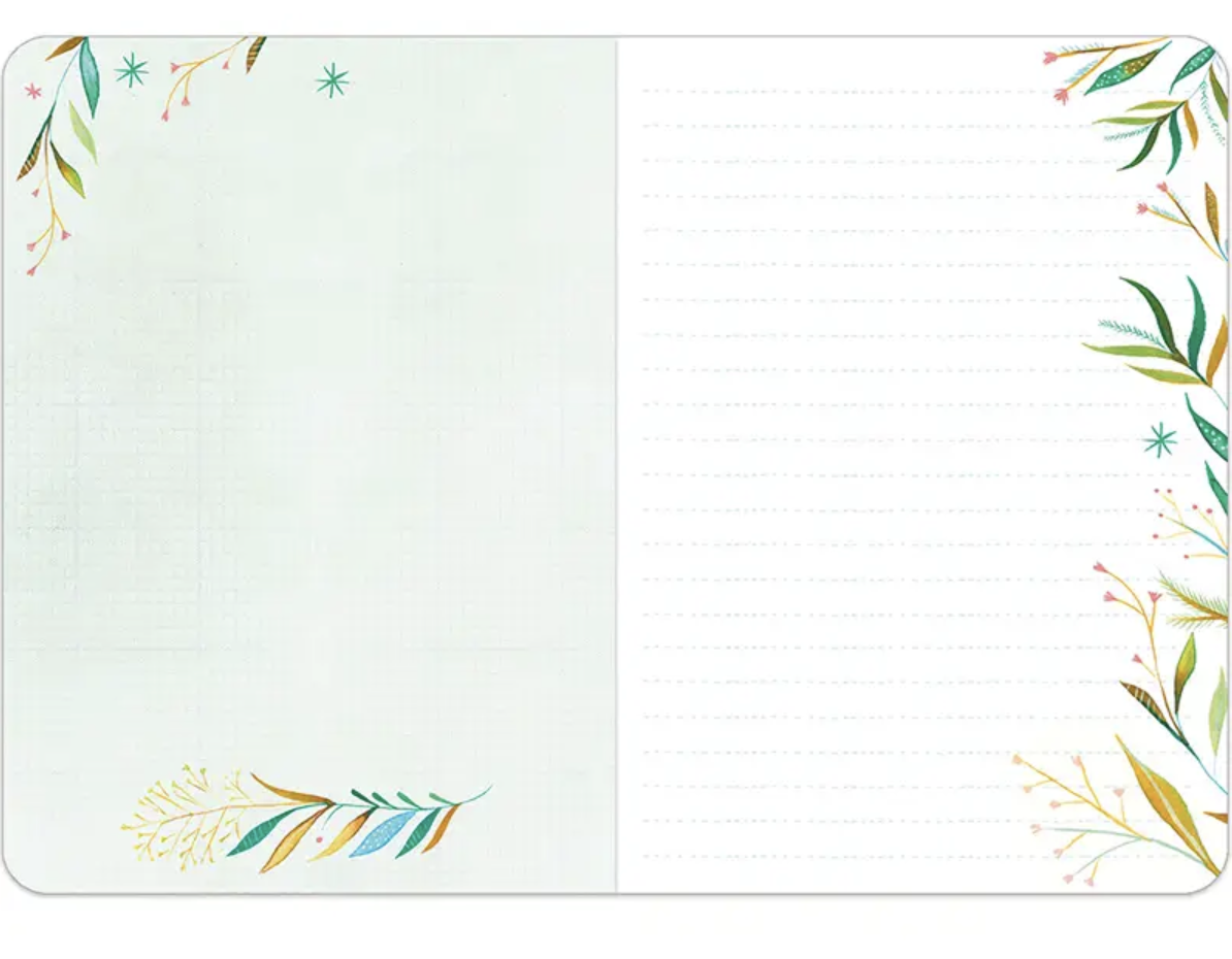 """Katie Daisy """"Flowers Always"""" Lined Travel-Sized Notebook"""