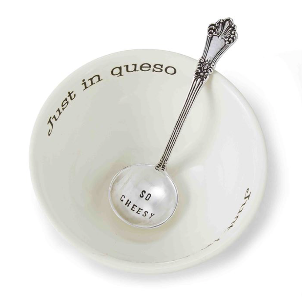 """""""Just in Queso"""" Dip Set with Serving Spoon"""