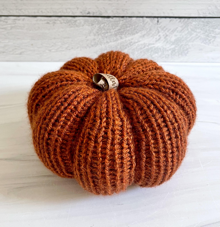 Large Knit Pumpkin--CHOOSE COLOR