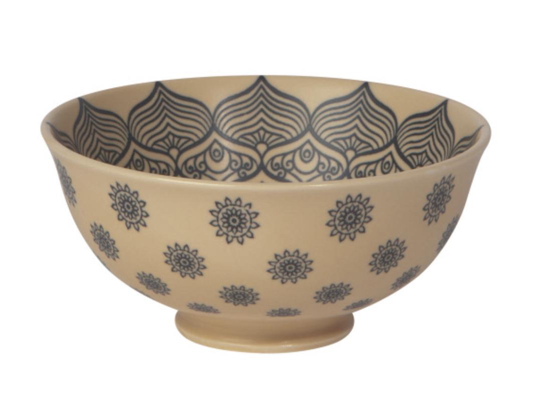 "Mandala Porcelain Bowl, 4.75"""