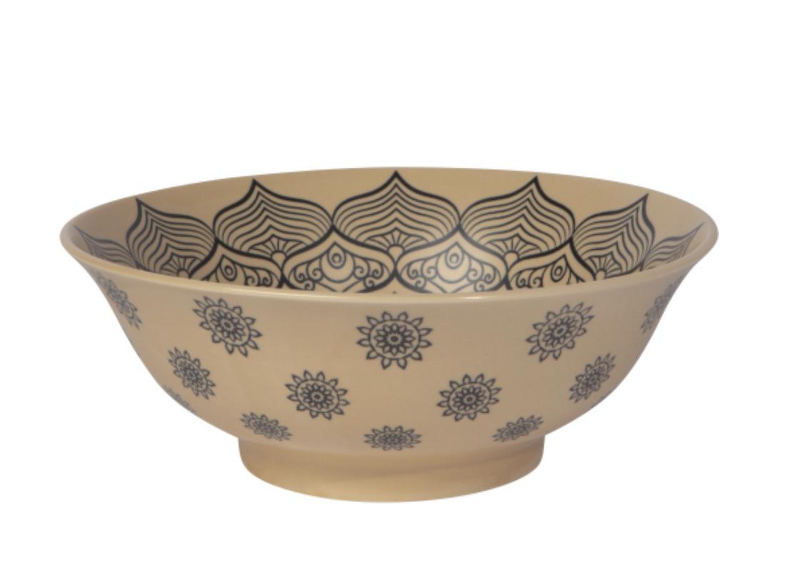 "Mandala Porcelain Bowl, 8"""