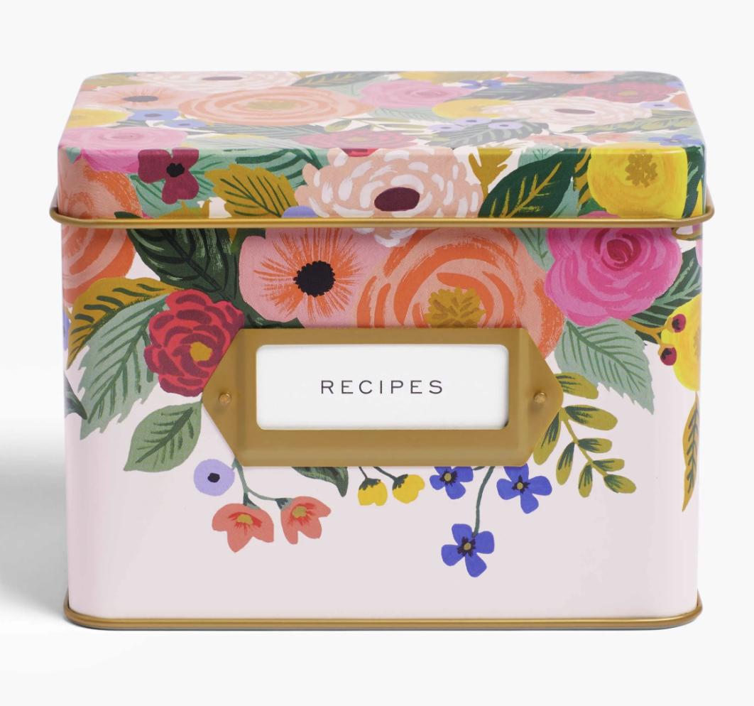 Rifle Paper Co. Tin Recipe Box--CHOOSE DESIGN