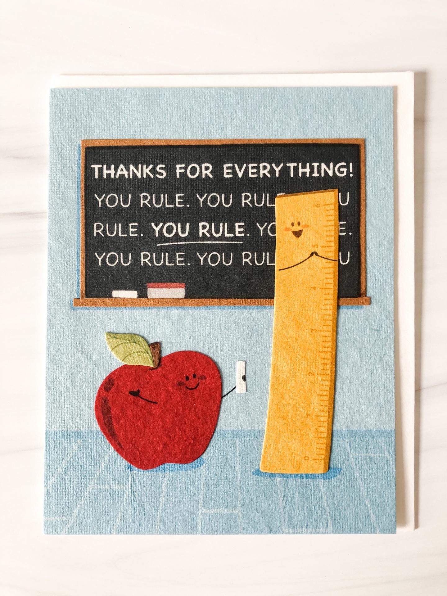 """You Rule,"" Blank Greeting Card"