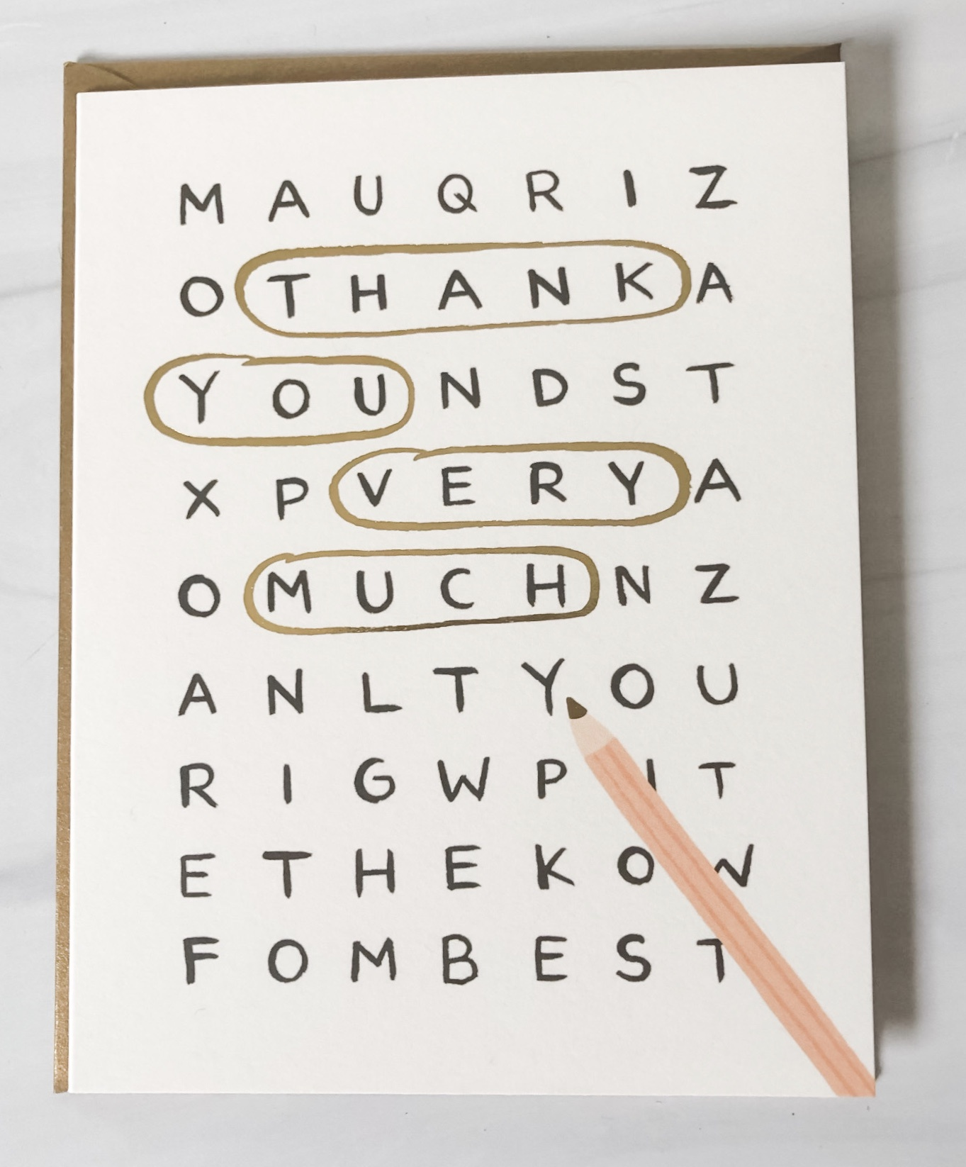 """""""Thank You Very Much Crossword,"""" Rifle Paper Co. Blank Greeting Card"""