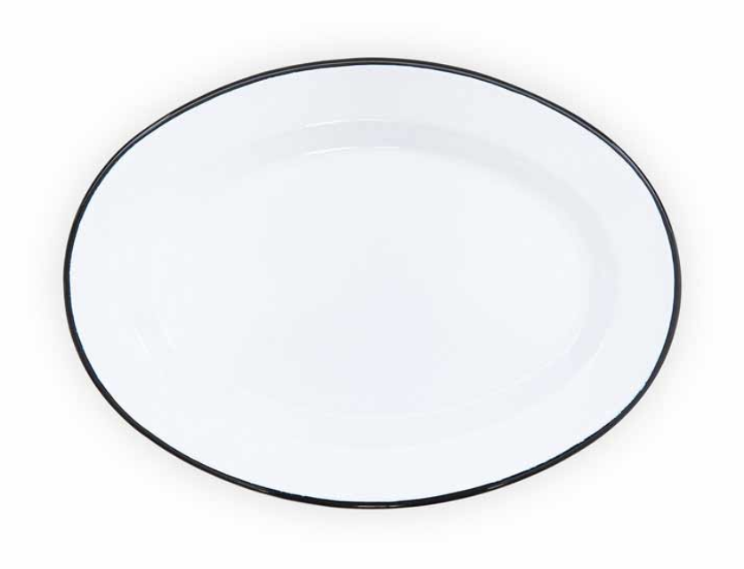 "Enamelware Oval Plate, 11"""