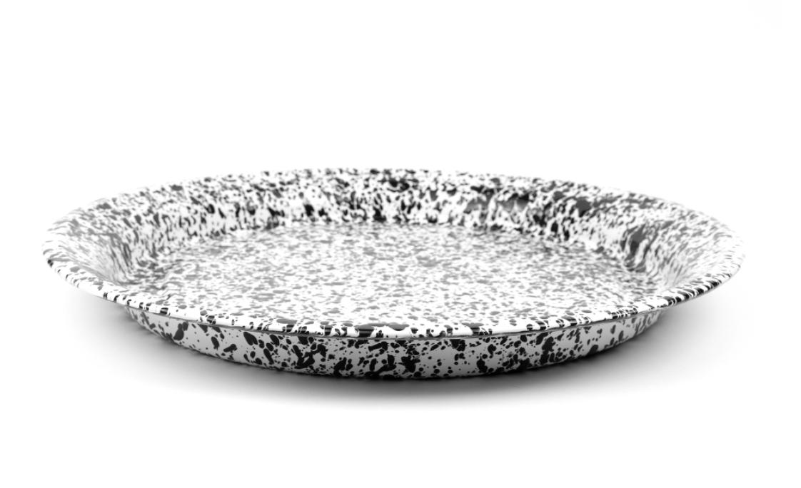 Large Round Enamelware Tray