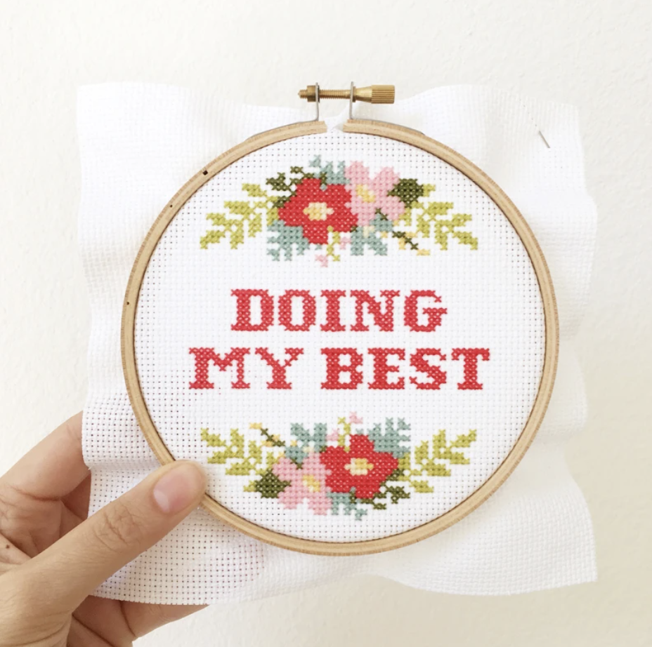 Doing My Best Cross Stitch Kit