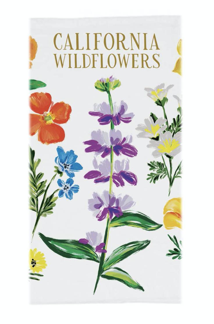 California Wildflowers, Tea Towel