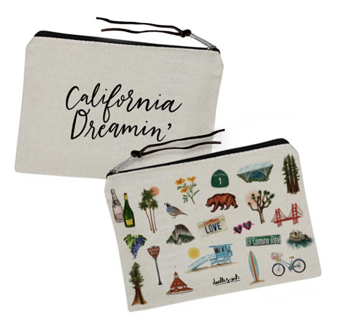 California Dreamin' Travel Pouch