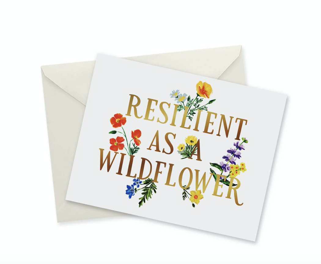 Resilient As a Wildflower, blank greeting card