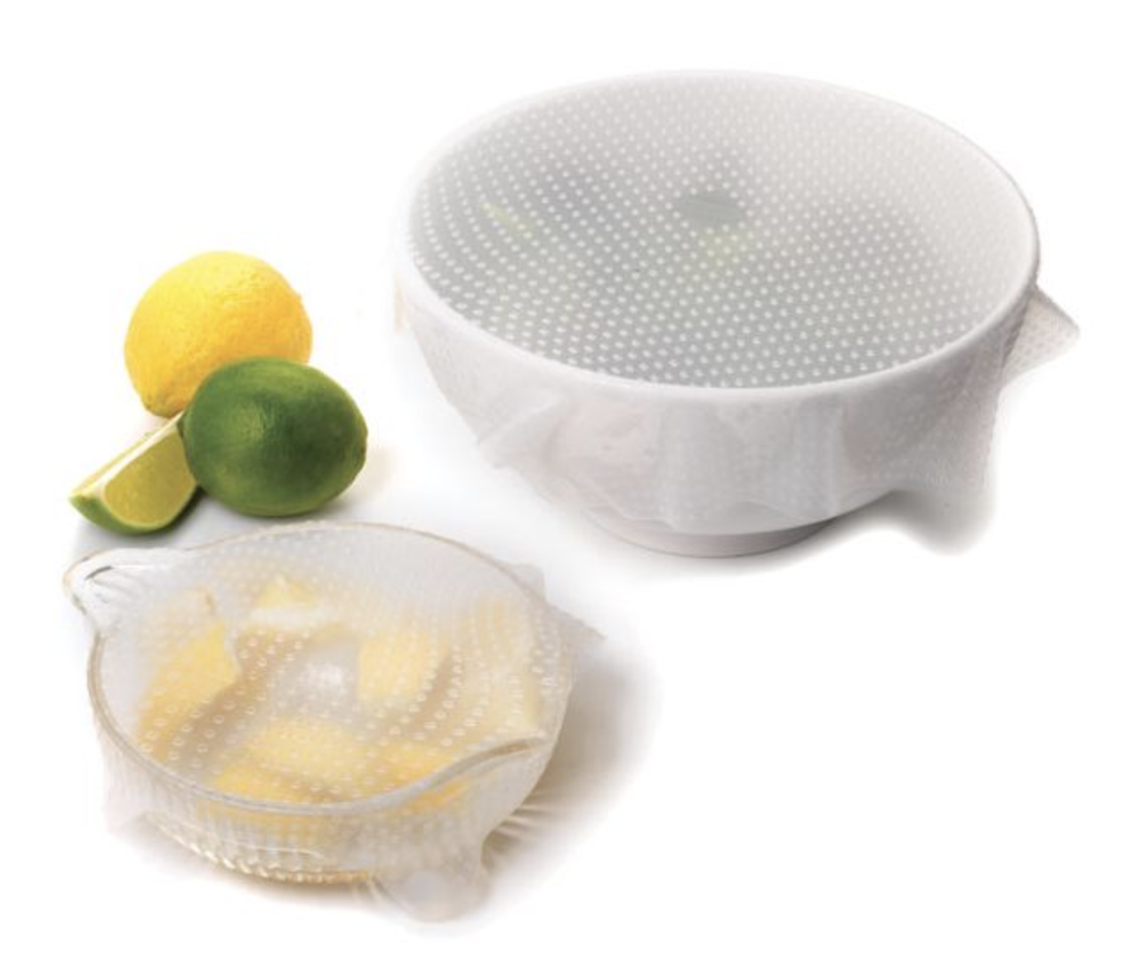 Sili Stretch Silicone Bowl Covers, set of 2