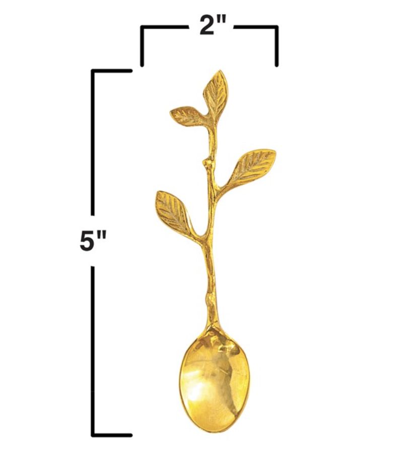 Twig Spoon, Stainless Steel Brass Finish