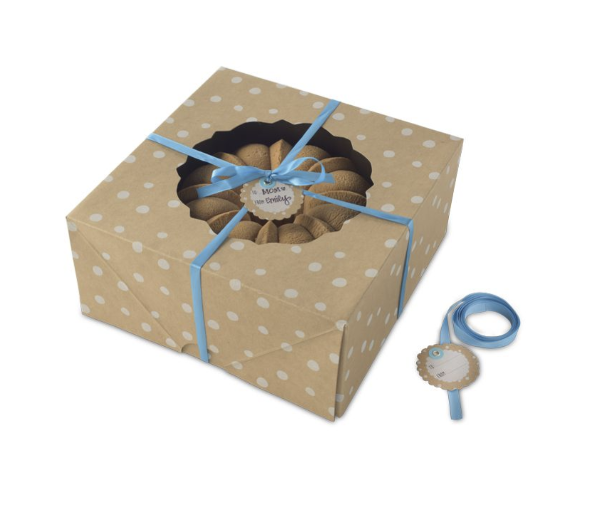 Kraft Paper Bundt Cake Box, Large; 2 count