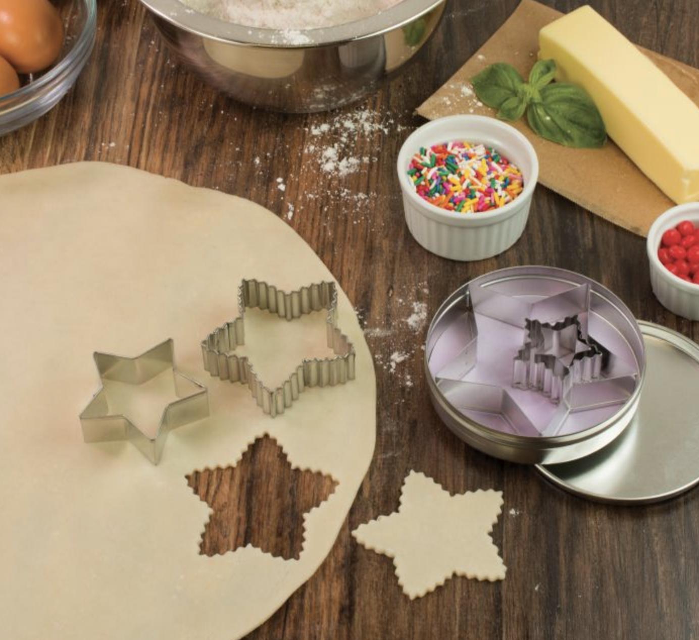 Cookie Cutter Set, Set of 5 Stars