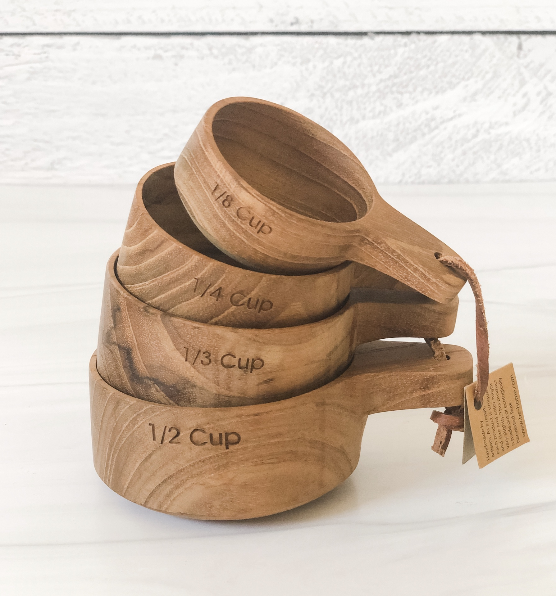 Teak Measuring Cups