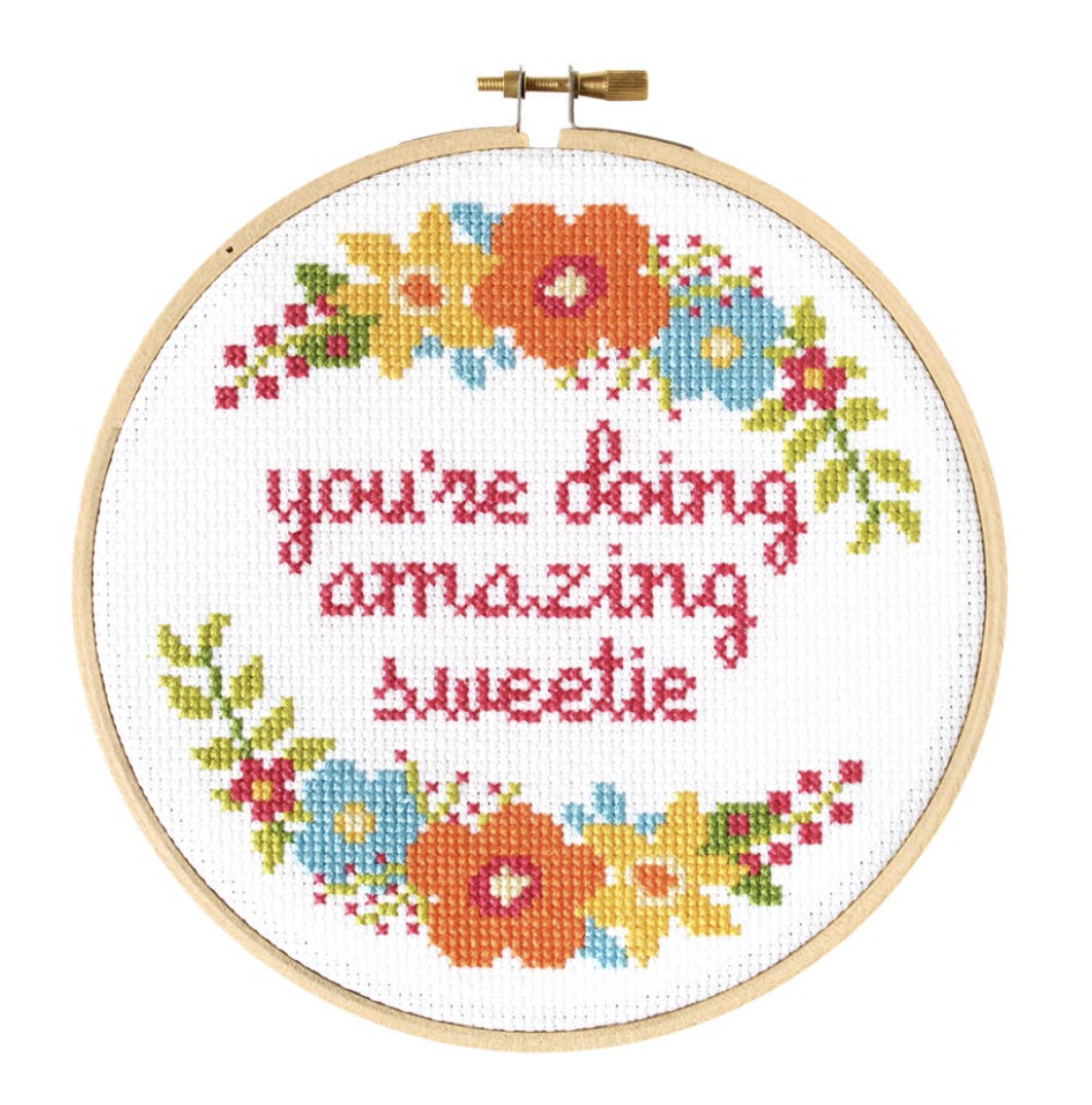You're Doing Amazing Sweetie Cross Stitch Kit