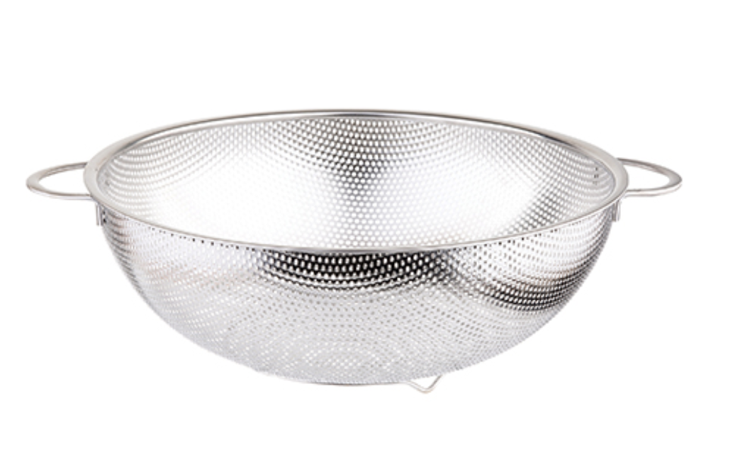 Stainless Steel Perforated Colander, 2 sizes