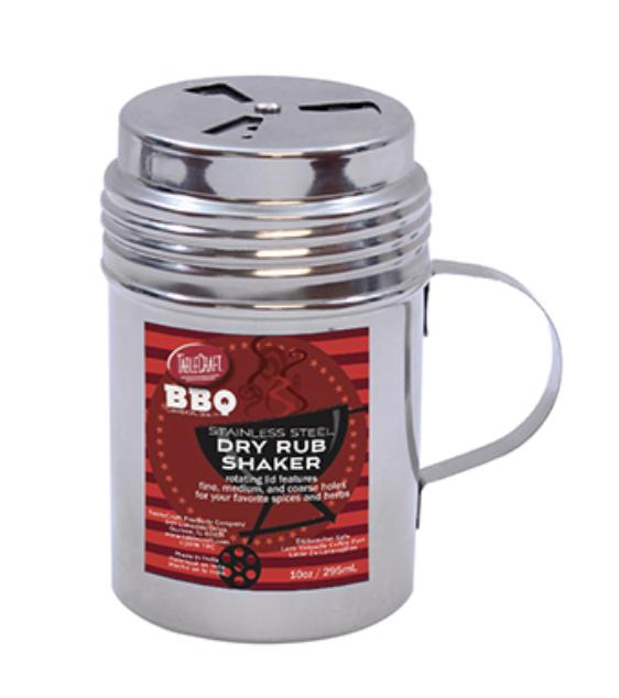 Stainless Steel, Dry Rub Shaker, 10oz