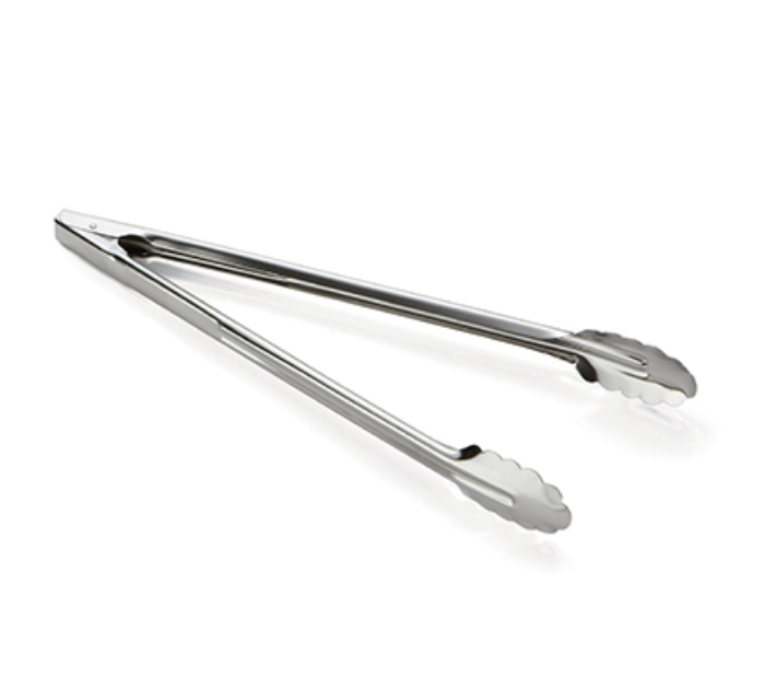 Heavy Weight Stainless Steel Utility Tongs, 2 sizes