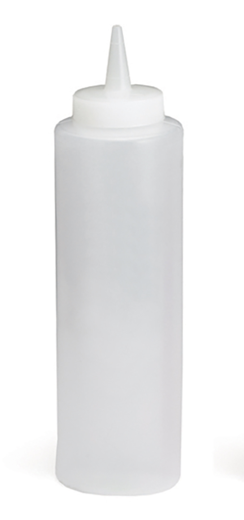 Plastic Squeeze Bottle, 12oz