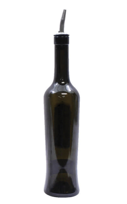 Dark Tinted Olive Oil/Vinegar Bottle with Pour Spout