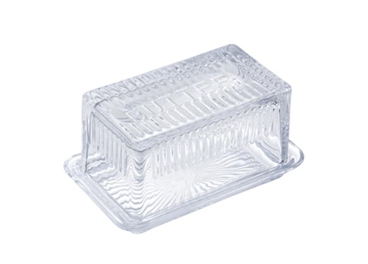"""Glass Butter Dish, 6.5""""x4"""""""