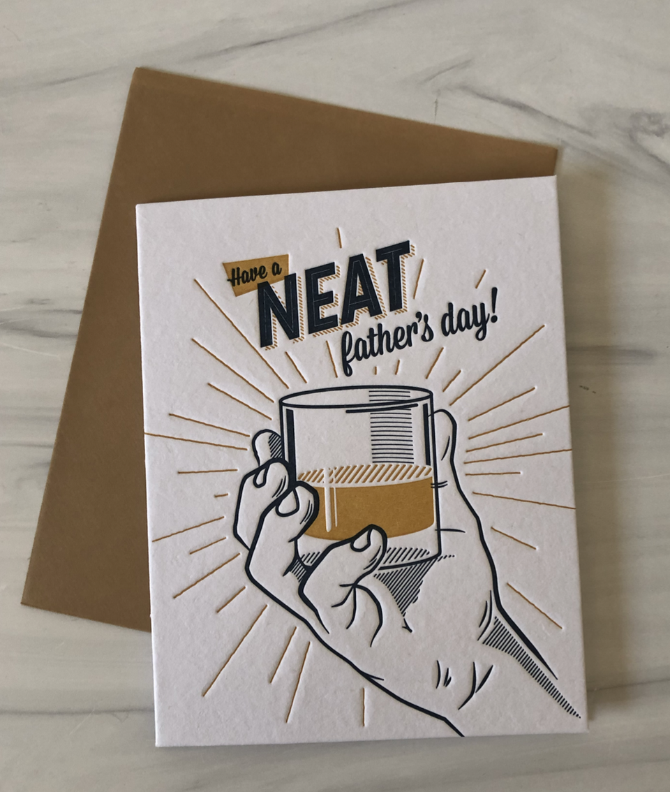"""Neat Father's Day"" blank greeting card"