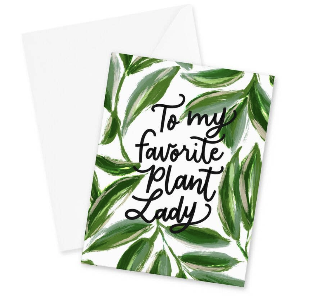To My Favorite Plant Lady, blank greeting card