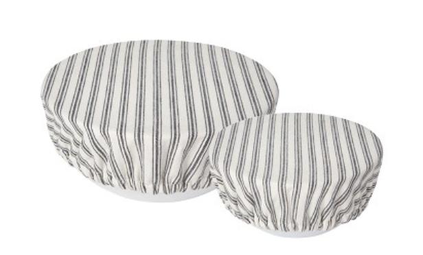 Ticking Stripe, Bowl Cover, set/2