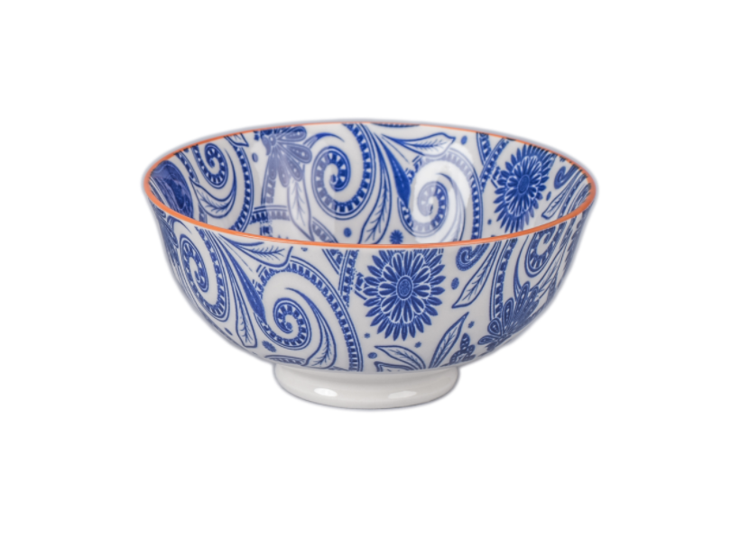 """Paisley Bowl, 4.75"""", assorted colors"""