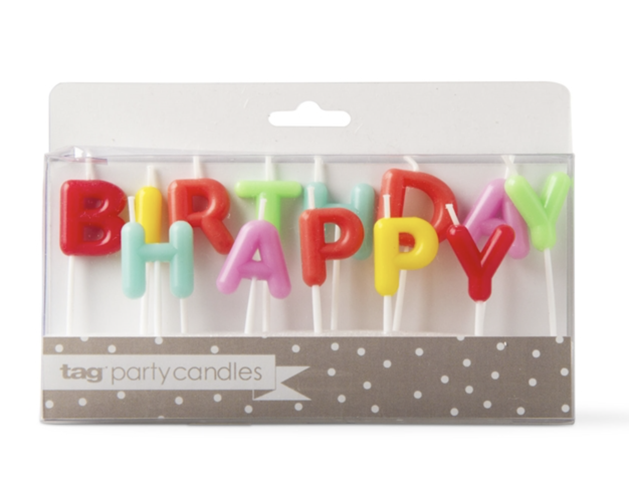 "Party Candles: ""Happy Birthday"" set"