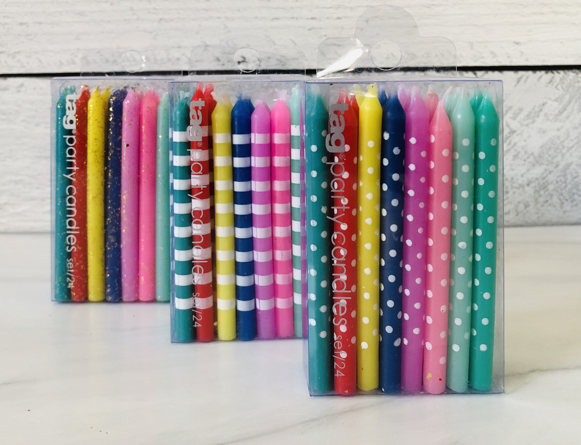 Birthday Candles, Assorted Colors & Designs