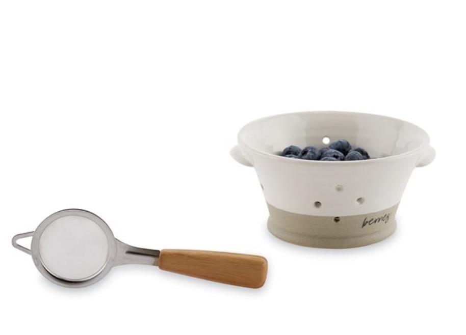 Stoneware Berry Bowl Set, 2 pieces