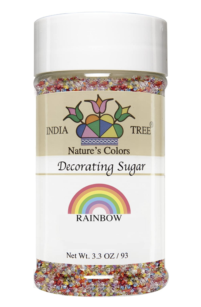 Rainbow Decorating Sugar,  3.3 oz