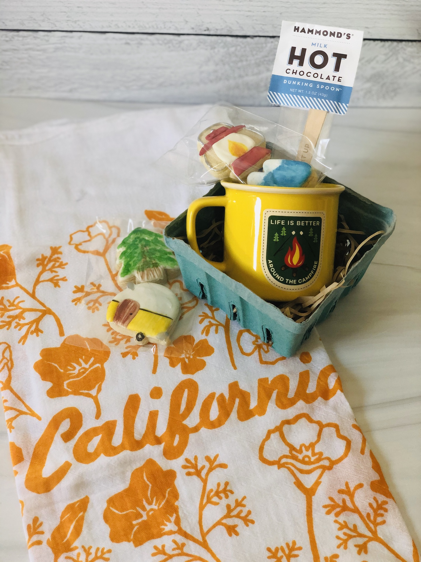 Camping Gift Set w/ CA Poppy Towel
